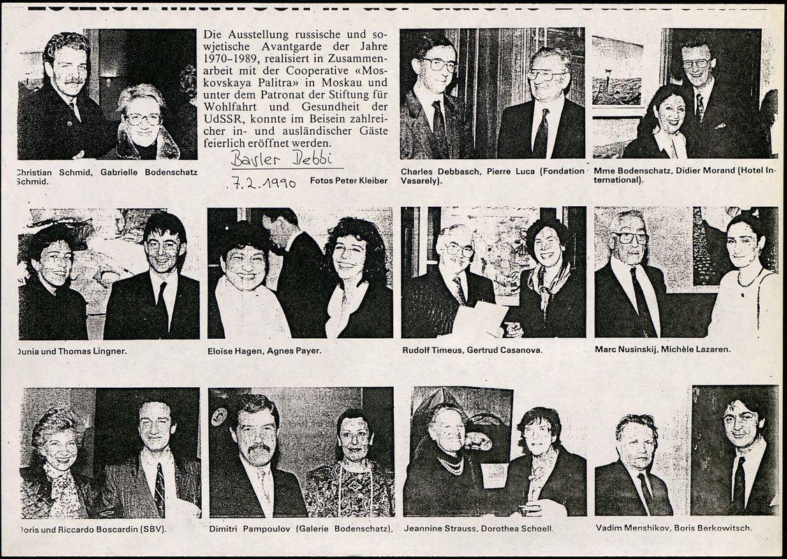 """Анонс выставки """"Der Russischen und Sowjetischem Avantgarde der Jahre 1970–1990"""""""