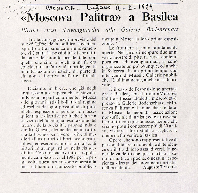 """Moscova Palitra"" a Basilea"
