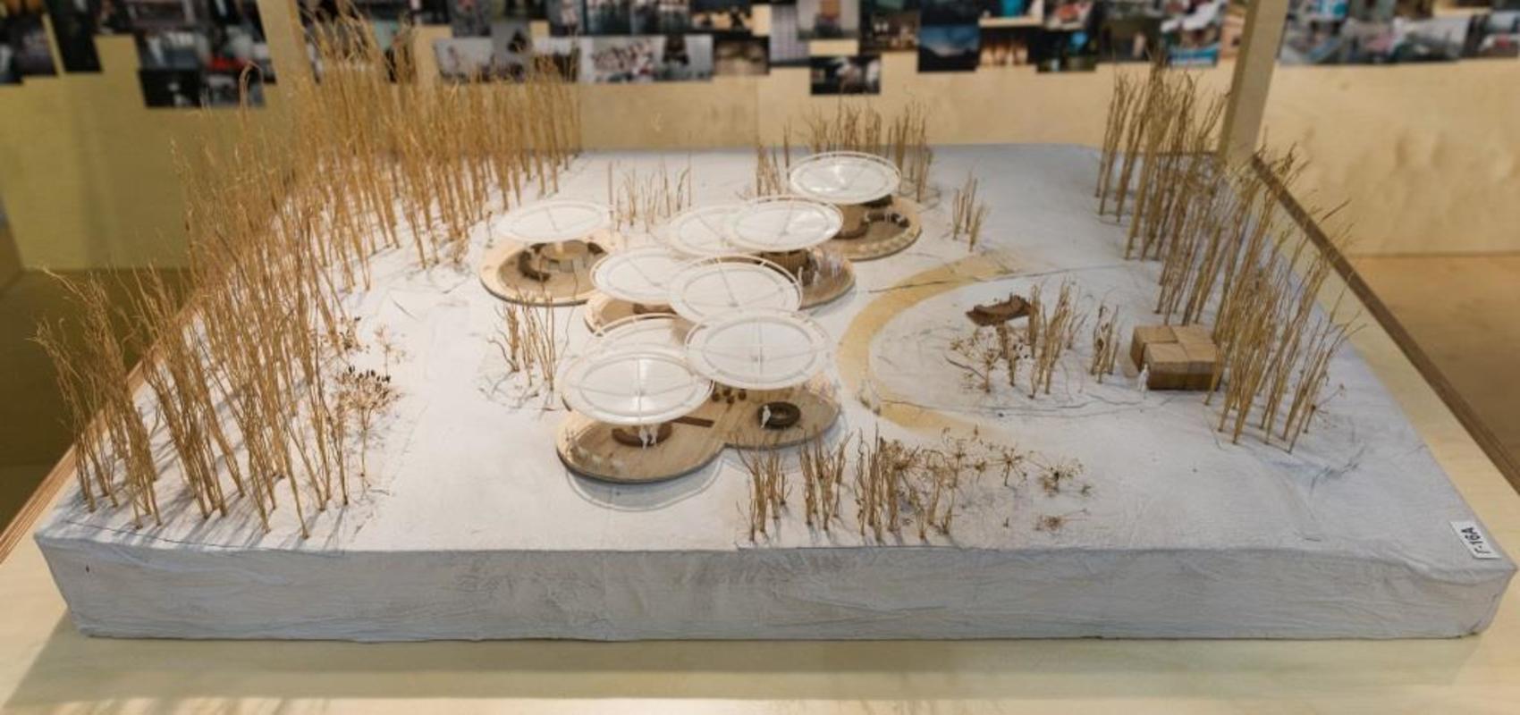 Архитектурный макет летнего павильона Центра современной культуры «Гараж»