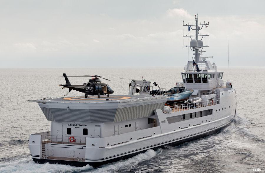 Совладелец Belgravia Yachts Виктор Мартынов: наличие вертолёта Airbus H135 позволяет увеличить количество сценариев использования суперъяхты