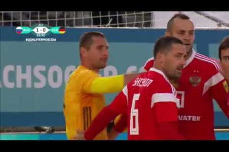 Great goal by russian goalkeaper Chuzhkov!