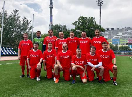 Сергей Анохин принял участие в товарищеском матче в честь дня рождения ВДНХ