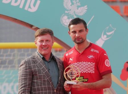Сергей Анохин принял участие в церемонии награждения Чемпионата России по пляжному футболу
