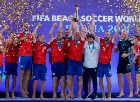 Сборная России - трёхкратный чемпион мира по пляжному футболу!