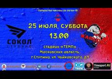 Сокол (Ступино) - Warriors, первенство Москвы по регби, 1 дивизион. 25.07.2020