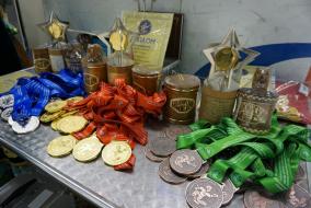 Церемония награждения. Финальные соревнования «Золотая шайба» (девушки 2004-2006 г.р.) в Салавате. Фото Динары Кафискиной