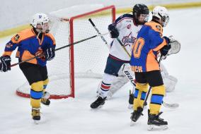 Финальные соревнования среди юных хоккеистов Клуба «Золотая шайба» в Перми.