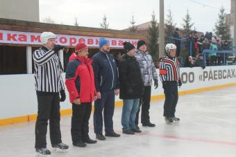 В селе Раевский состоялось открытие хоккейного сезона