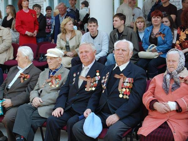 Ветераны на параде ТГУ в честь 9 мая