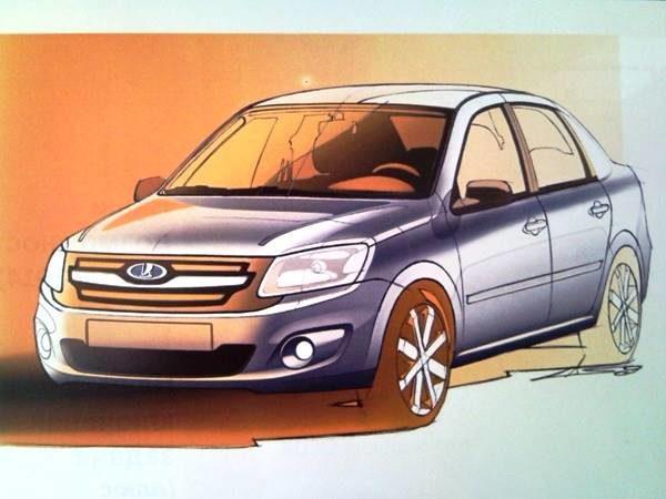 Новый бюджетный автомобиль АВТОВАЗа наплатформе «Калины» существует пока настадии техзадания