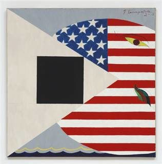 Павел Пепперштейн. «Американский кит ичерный квадрат», 2008