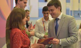 Михаил Котюков наградил победителей форума «Наука будущего – наука молодых»