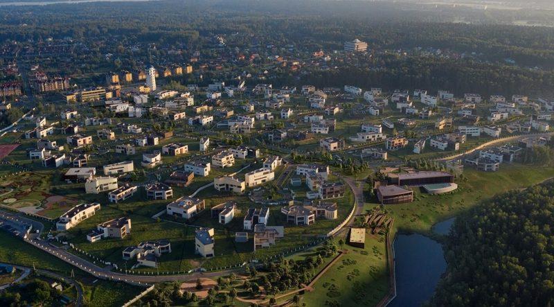 Коттеджный поселок «Березки» завершает благоустройство