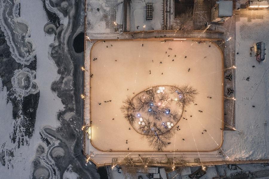 Новый панорамный «Каток у моря» в Петербурге ждет гостей