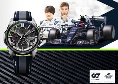 Casio и Scuderia AlphaTauri представят новые часы EDIFICE с 6K-углеродным волокном