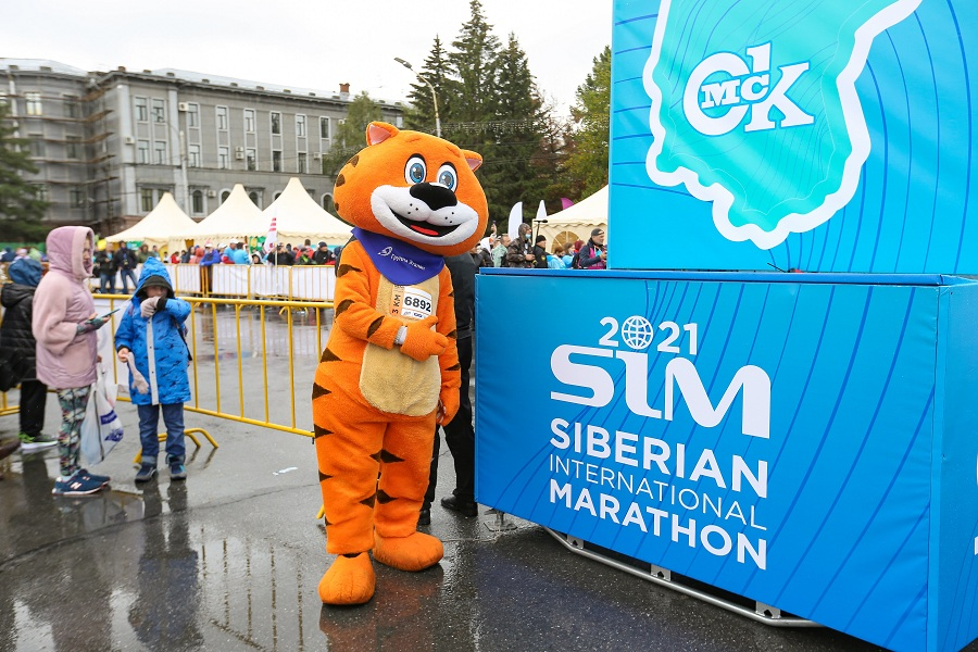 Талисман Группы «Эталон» принял участие в Сибирском международном марафоне